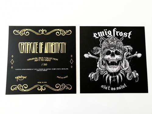 Ewig Frost certificate
