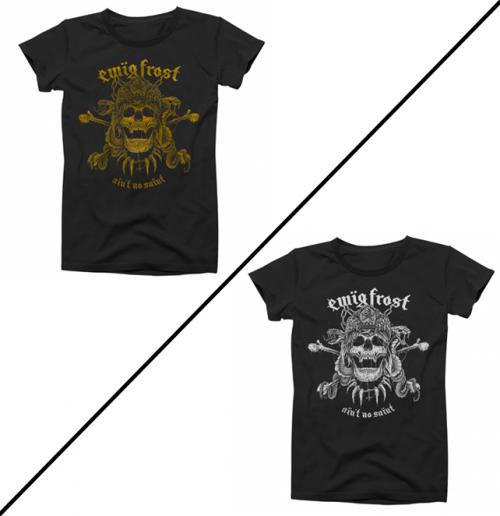 T-Shirt Gold on Black or White on Black