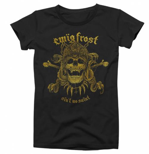 T-Shirt Gold on Black